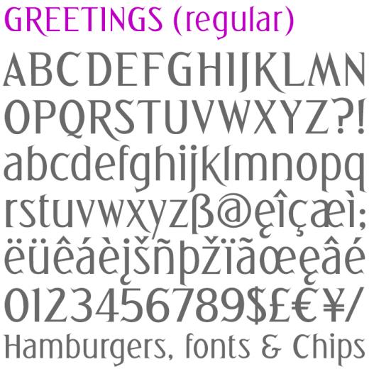 Greetings (regular)