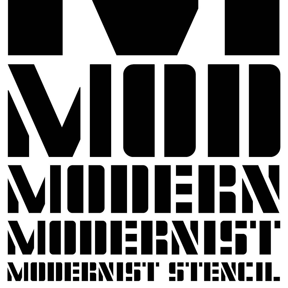 Modernist Stencil