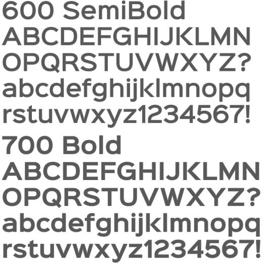 Sinkin Sans 600 700