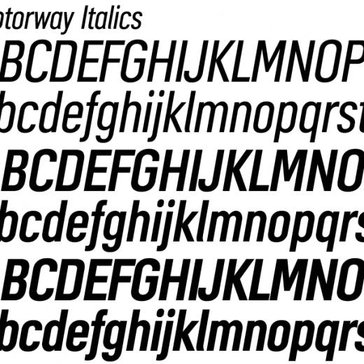 Motorway Italics