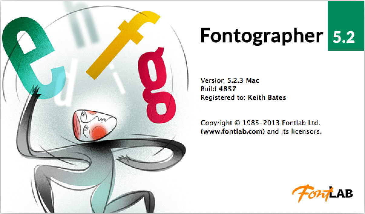 Fontographer screen