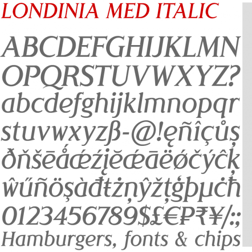 Londinia Medium Italic
