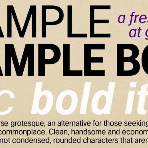 Example - Regular, Bold, Italic and Bold Italic