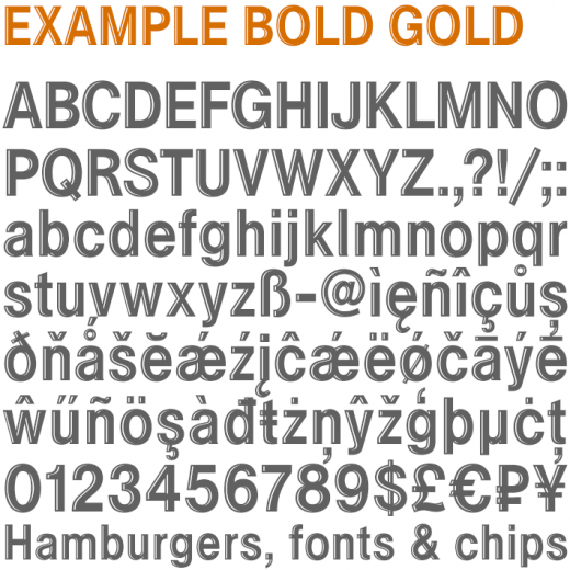 Example Bold Gold