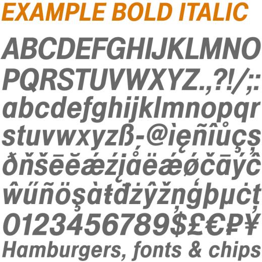 Example Bold Italic