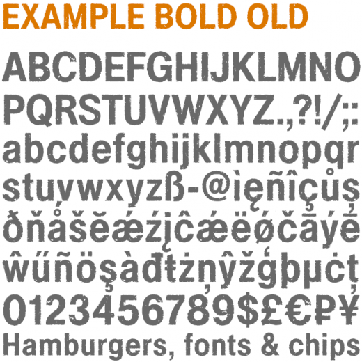 Example Bold Old