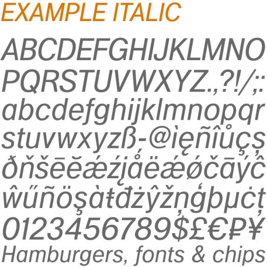 Example Italic