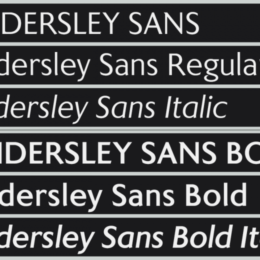 Kindersley Sans Regular & Bold