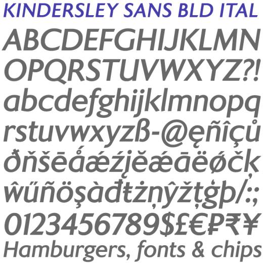 Kindersley Sans Bold Italic