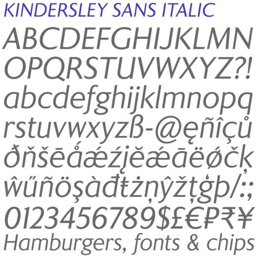 Kindersley Sans Italic