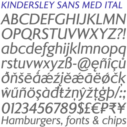Kindersley Sans Medium Italic