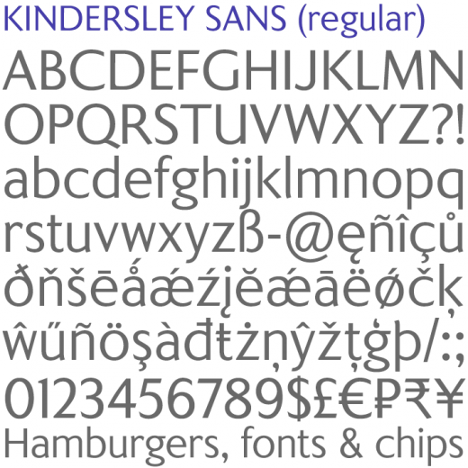 Kindersley Sans (regular)